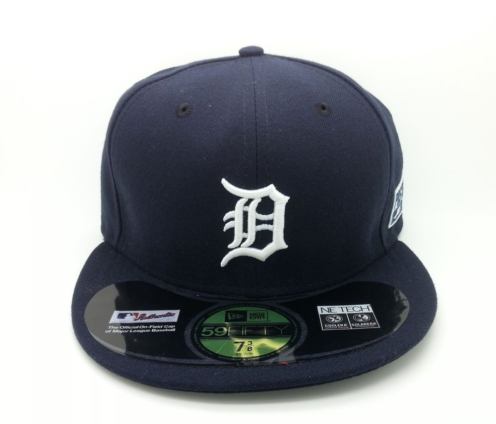 Detroit tigers mlb new era 59fifty fitted navy post