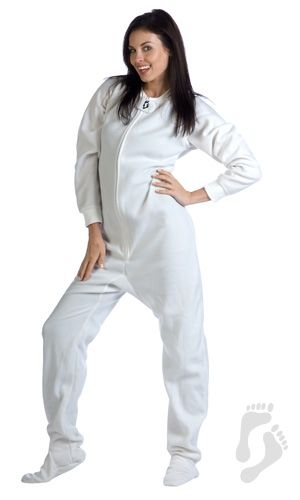 Arctic White II - Adult Footed Pajamas | Adult Footed Sleepwear ...