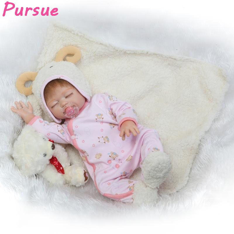 Pursue 53 cm So Real Brown Eyes Silicone Reborn Baby Doll ... |Real Babies For Adoption