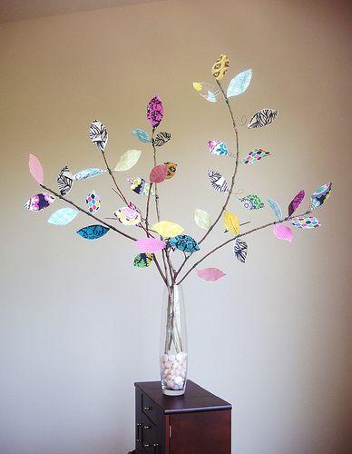 diy: fabric leaf tree...