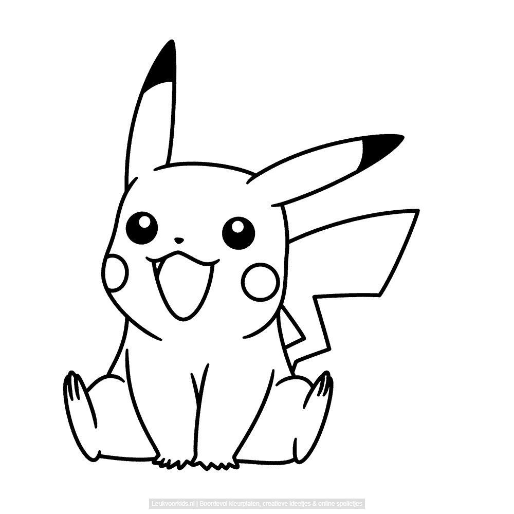 Bekijk pikachu kleurplaat