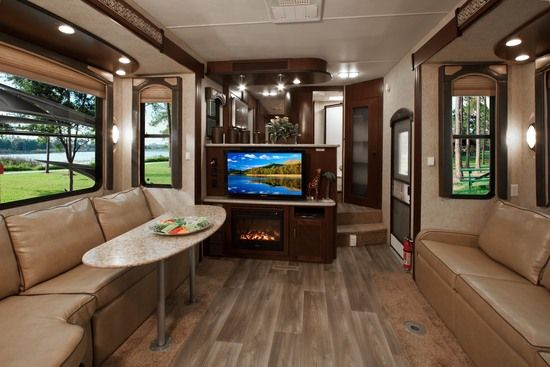 Love The Fireplace In This 5th Wheel Heartland Toy Haulers