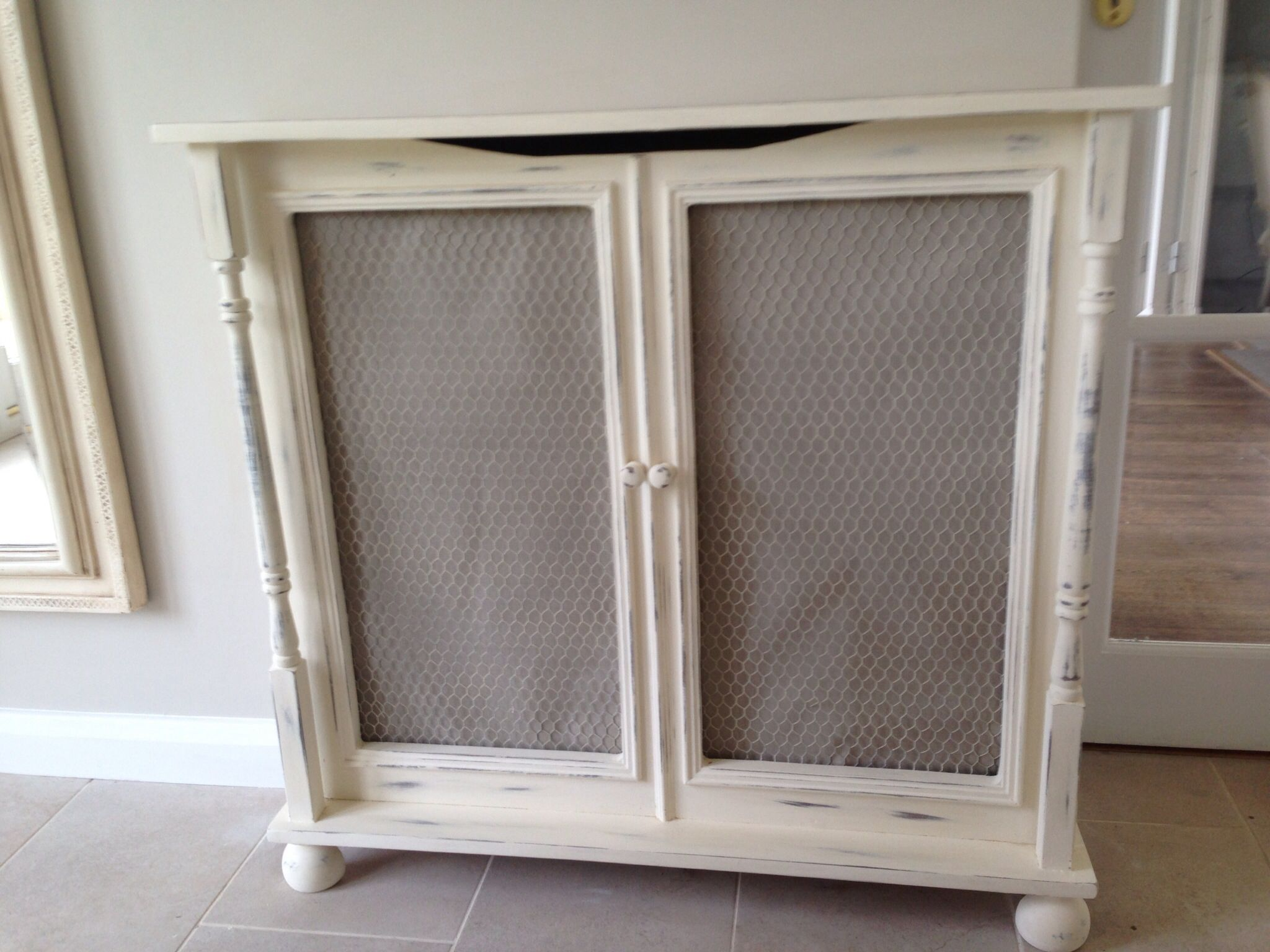 Like the Idea of repurposing a Cabinet - Remove Wood Insert and Replace  with Radiator Screen