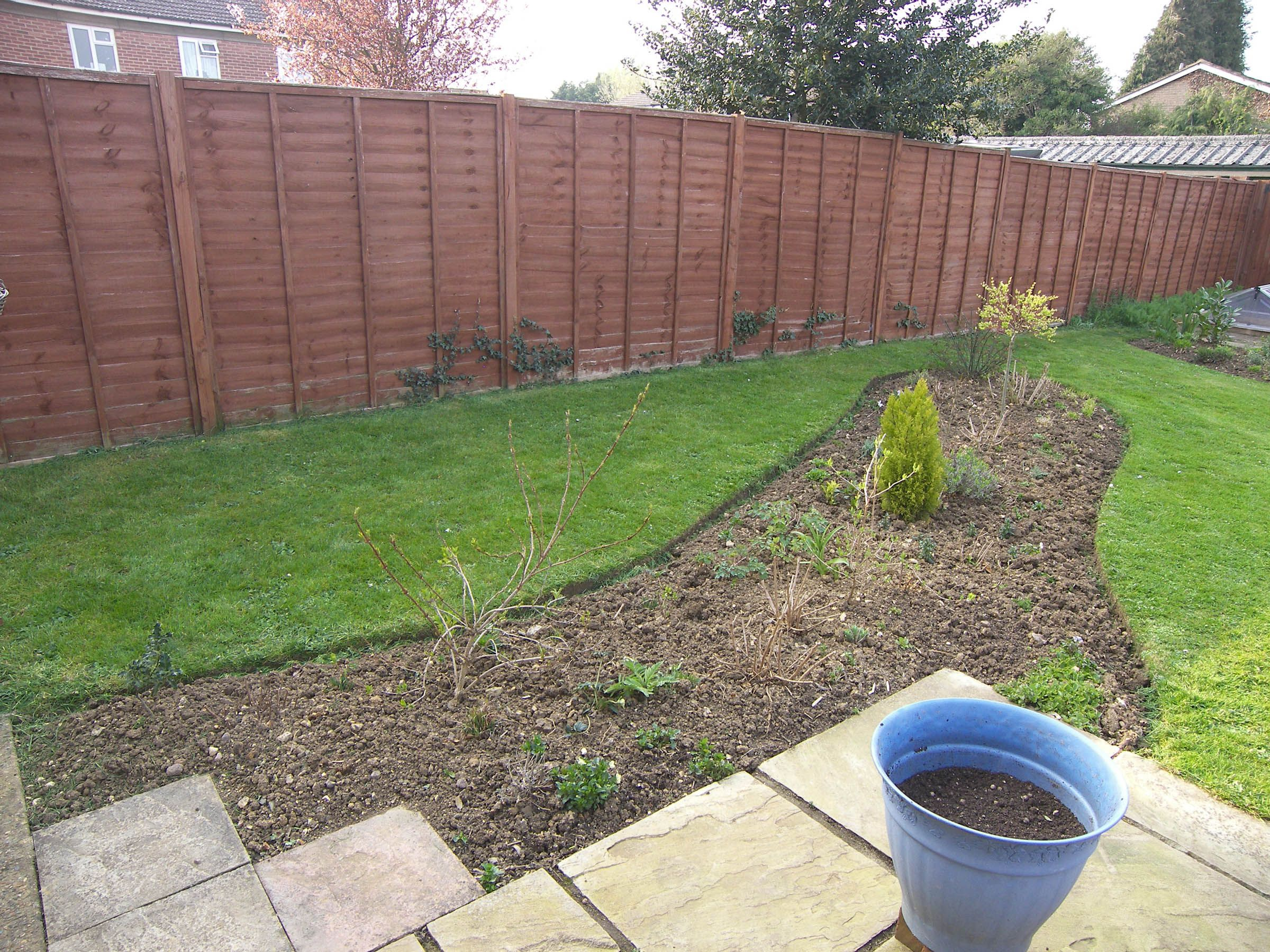 Completed and planted after 3yrs 4 months, few gaps to fill in, spring is here
