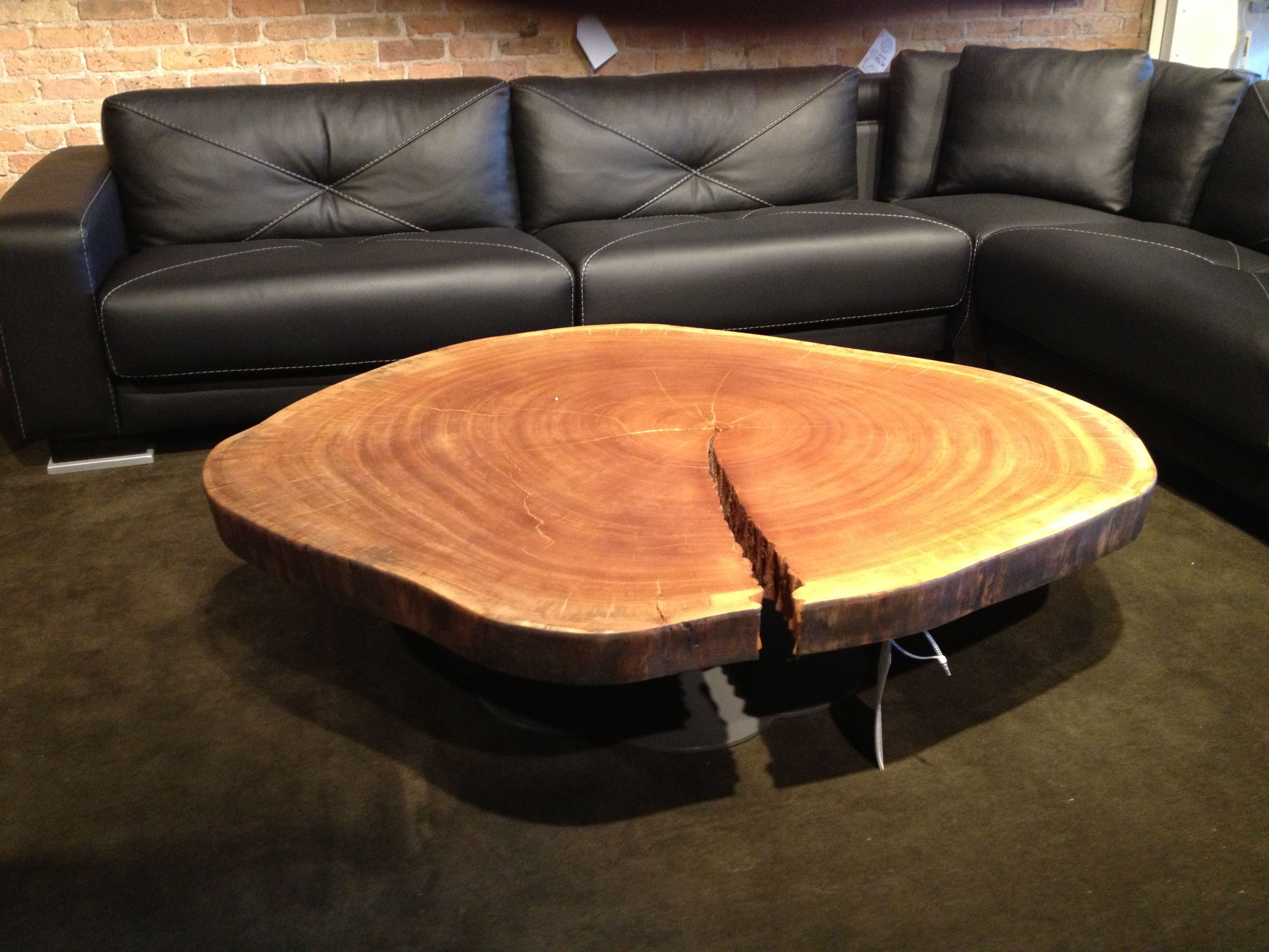 Natural Wood Coffee Table Ski Lodge Decor Pinterest