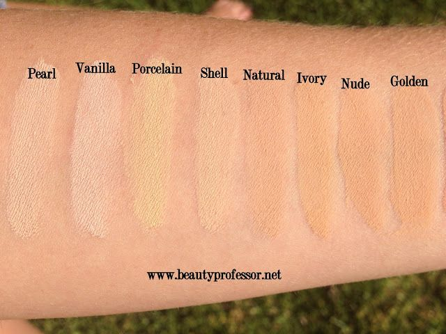 Hourglass Immaculate Foundation Swatches Of Every Shade