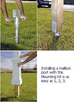 Mailbox Post No Dig Mounting Kit Diy Mailbox Mailbox Post Mailbox Installation