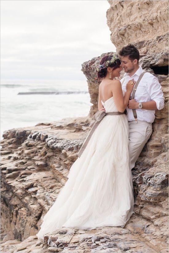 Beach wedding. | Wedding Dresses | Pinterest | Mediterrane hochzeit ...