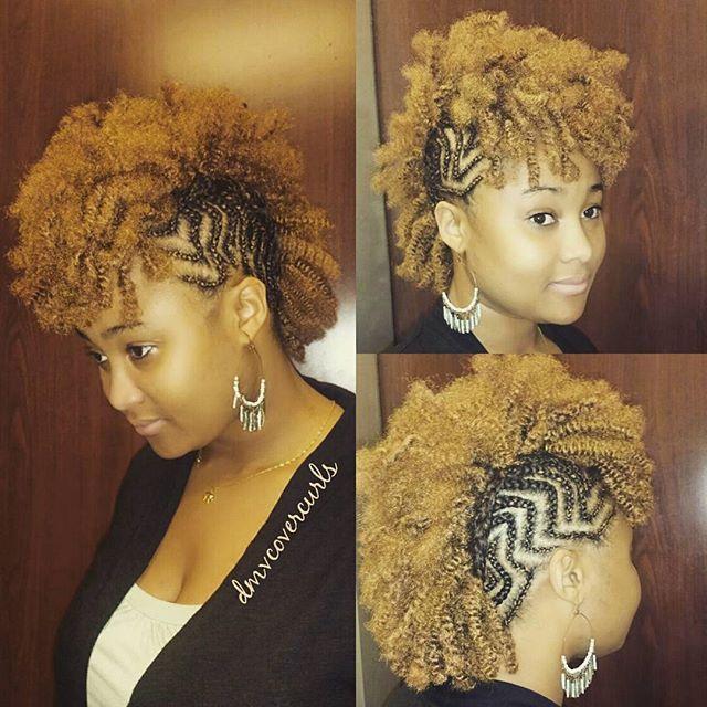 Cornrow Style With Crochet Mohawk Shecute Mohawk Hairstyles