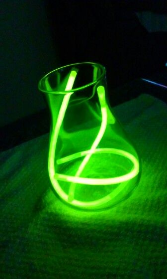 Glow Sticks Centerpiece For A Neon Or Glow In The Dark Party Around 1 50 A Table Glow Stick Party Glow Sticks Birthday Party For Teens