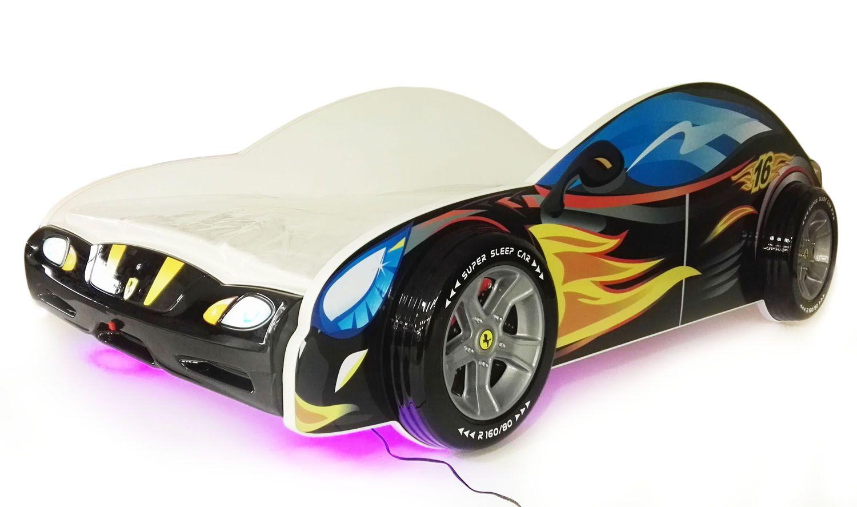 Lozko Auto Samochod 140x70 Swiecace Led Materac 6610878765 Oficjalne Archiwum Allegro Sports Car Toy Car Car