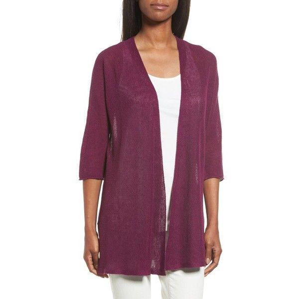 Women's Eileen Fisher Organic Linen Kimono Cardigan ($188 ...