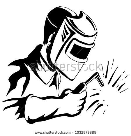 Image Welder Welding Tool Man Black Vectores En Stock