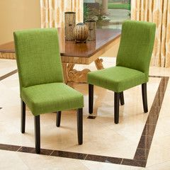 Heath Green Fabric Dining Chairs (Set of 2)