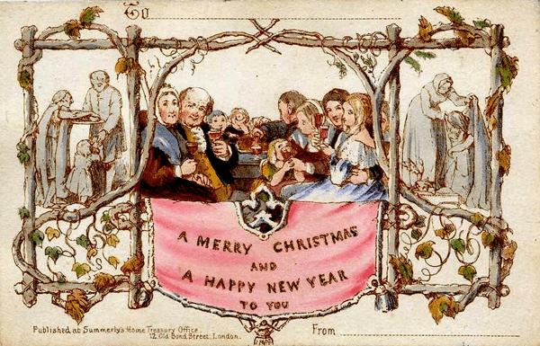 Primeras tarjetas de navidad