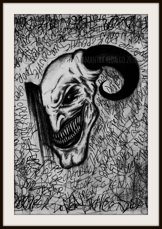 Horror demonology x art print