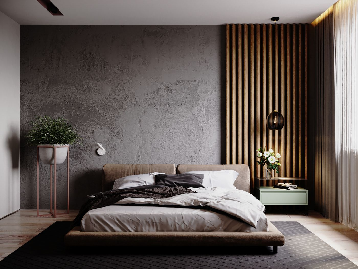 cozy space with a solid temper on behance modern master on cozy minimalist bedroom decorating ideas id=17937