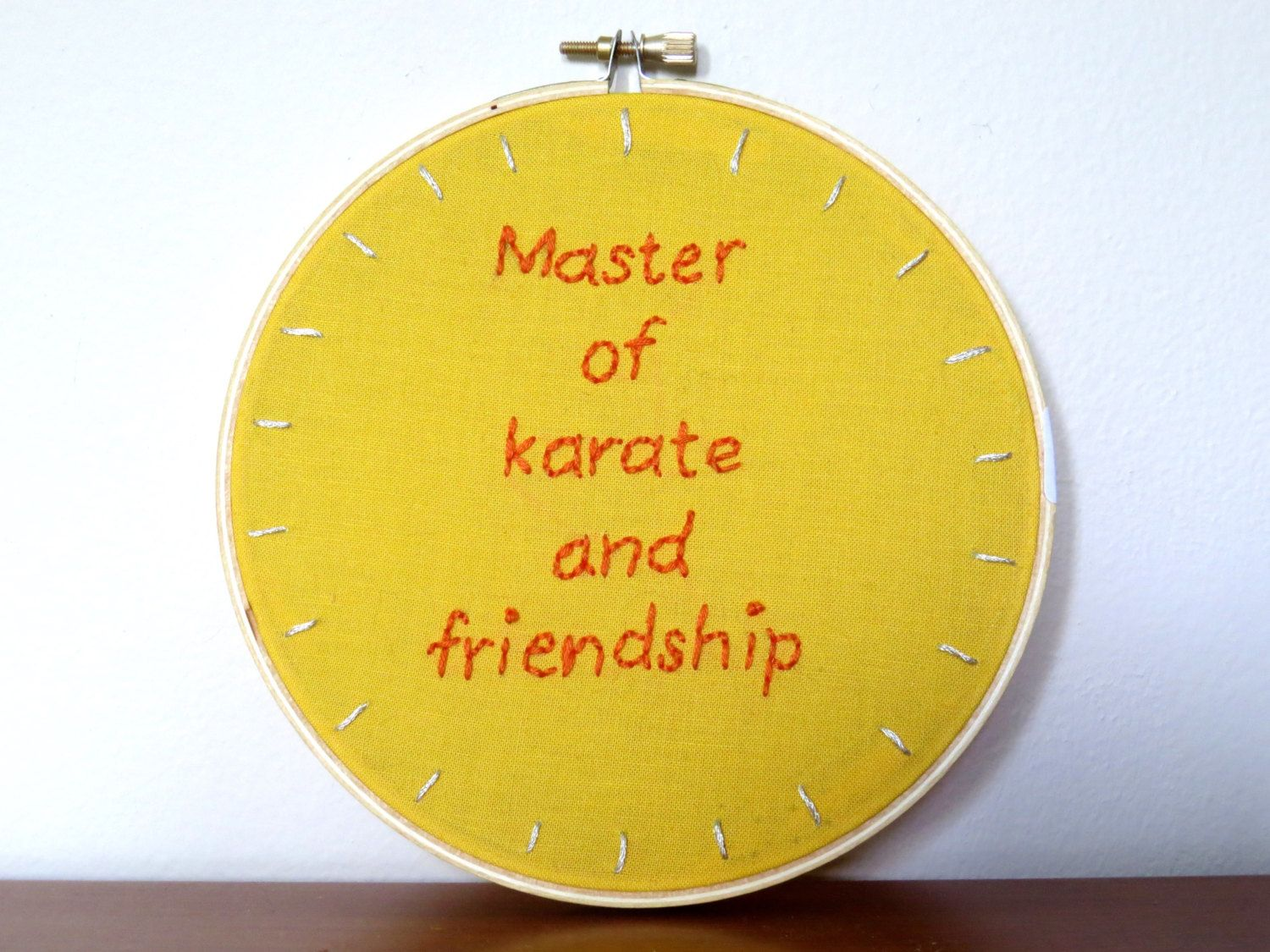 Embroidery Hoop Wall Art / Master Of Karate And by KnuckleheadArt ...