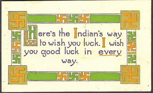 Native Indian Americana Rare Swastika Symbol1912 Early Cultural