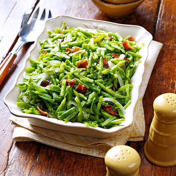 Bacon and Garlic Green Beans Recipe in 2020 Green