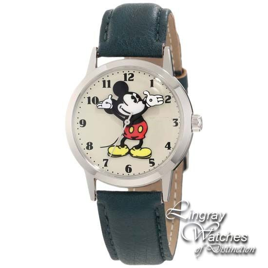 5a85c3b7d3 Disney by Ingersoll - Mickey Mouse Green Leather Strap Watch - 26163 RRP:  £40.00 Online price: £35.99 You Save: £4.01 (10%) www.lingraywatches.co.uk