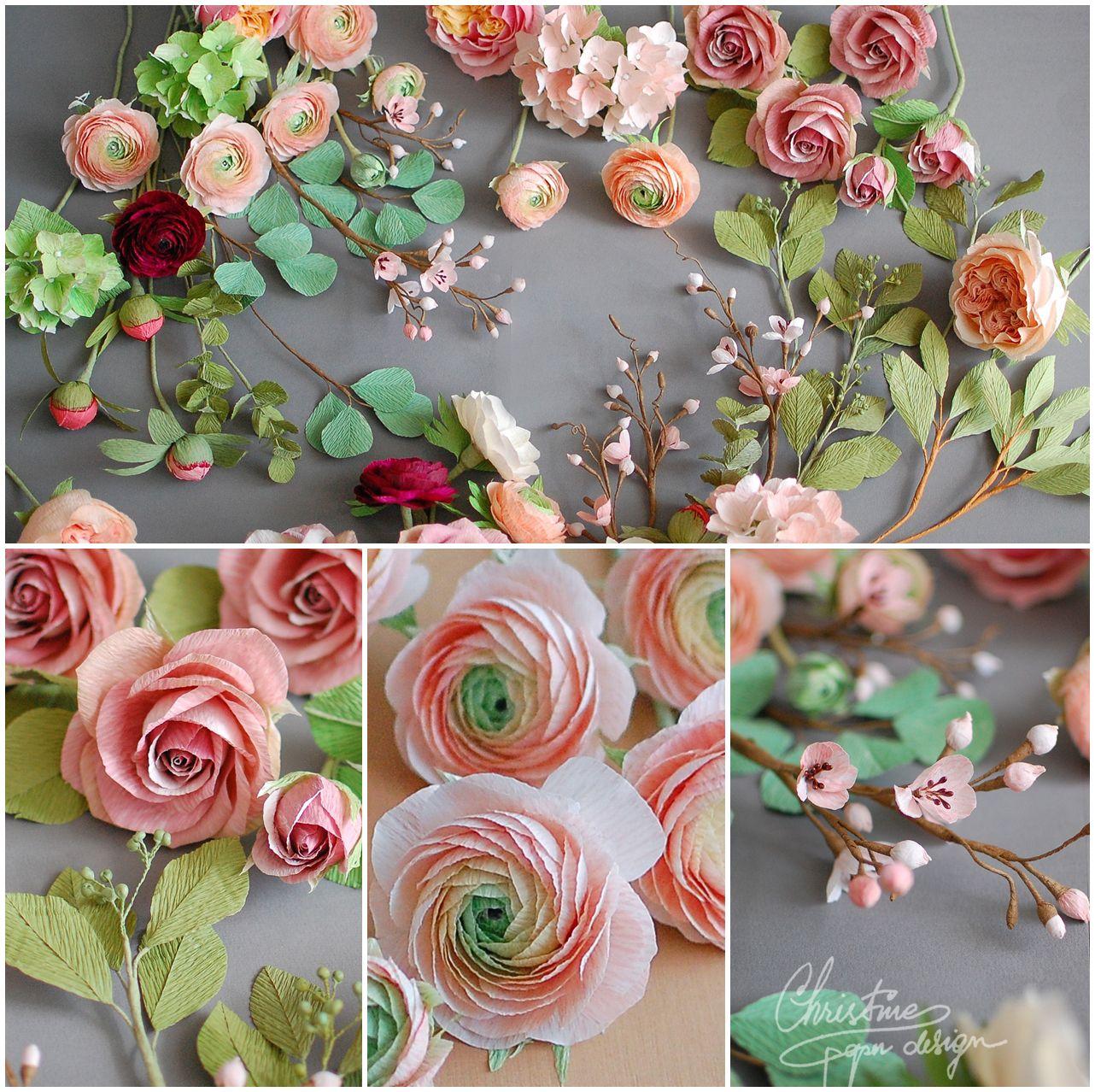 Paper flower bridal bouquet  Christine paper design   business