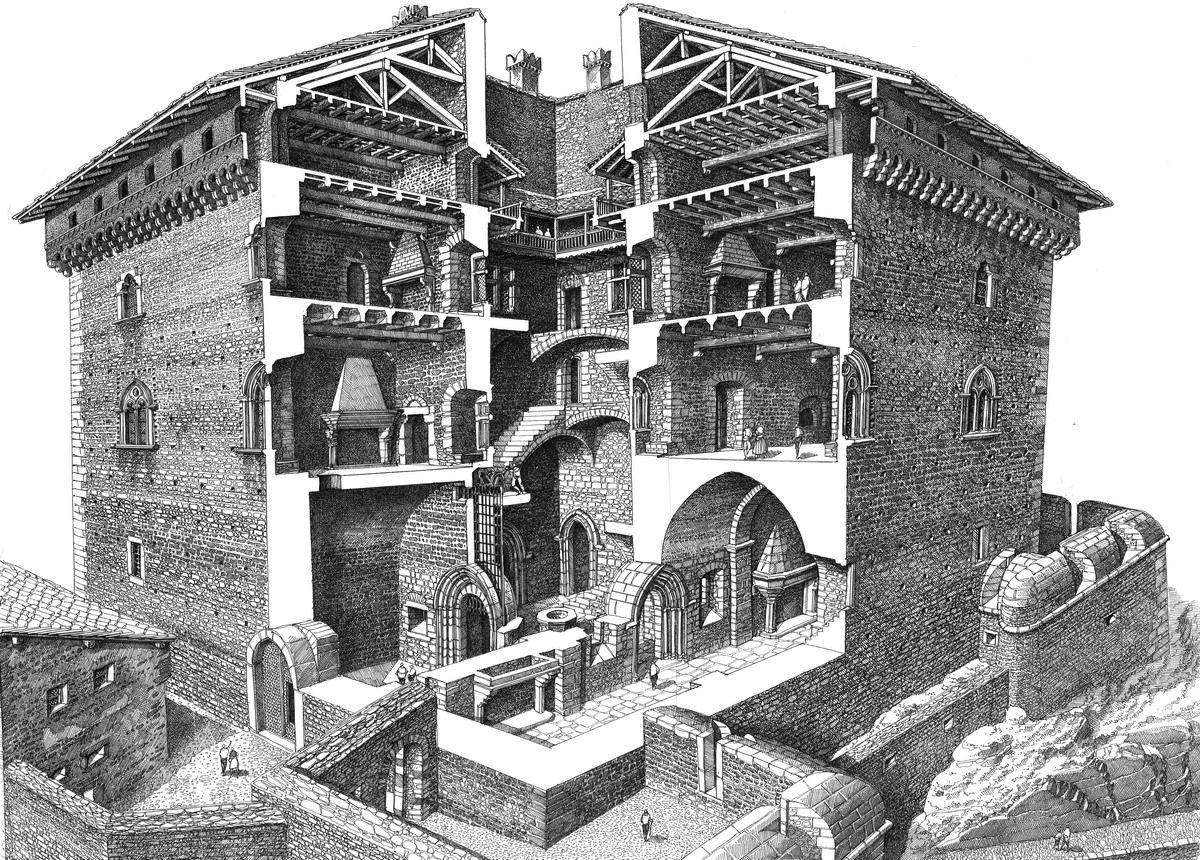Francesco corni illustrazione storia architettura 3d for Architettura 3d