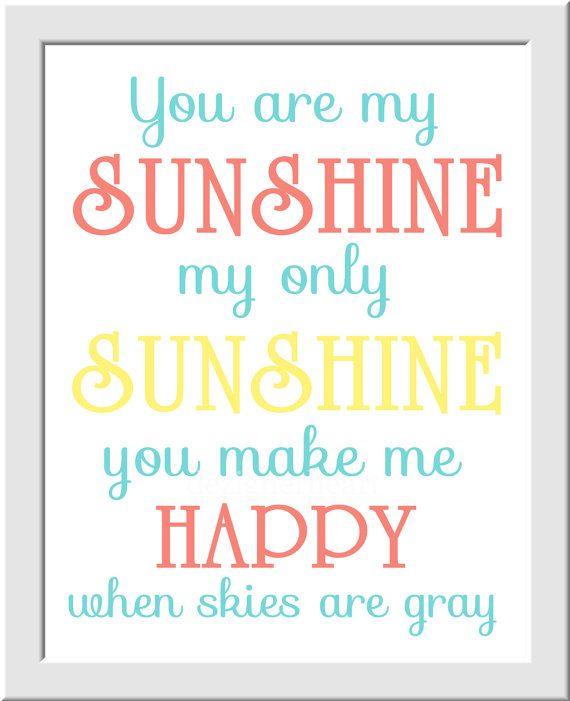 You are My Sunshine Baby Nursery Wall Art by DezignerheartDesigns