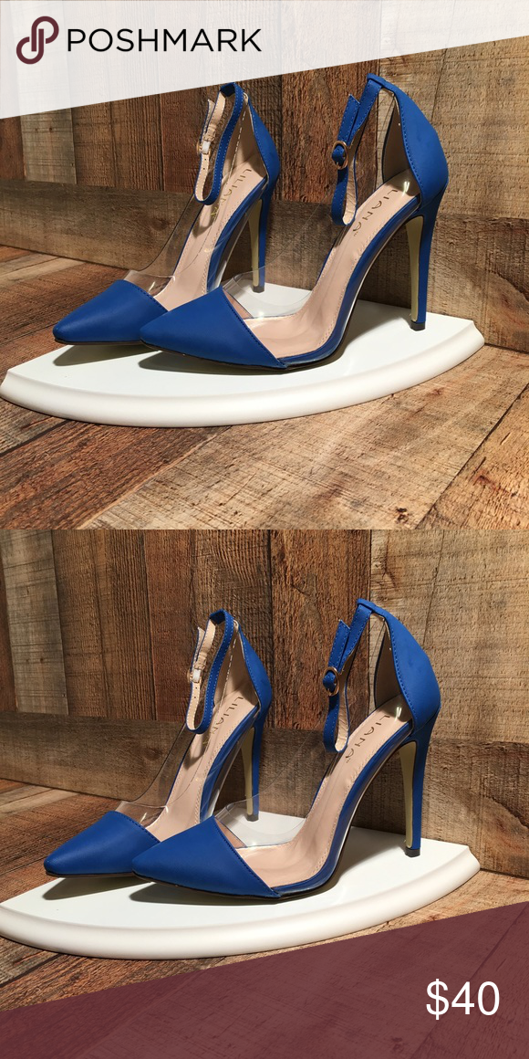 e24a25bc9cc5 Blue Pumps with Strap Brand new in original box. Beautiful blue pumps with  ankle strap. Perfect for multiple looks. reasonable offers Shoes Heels