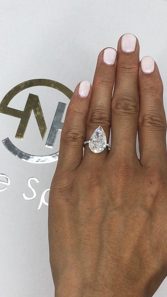 Diamond Engagement Ring1 30 Carat Pear Shape Solitaire Etsy Engagement Ring Shapes Unique Engagement Rings Engagement Ring White Gold