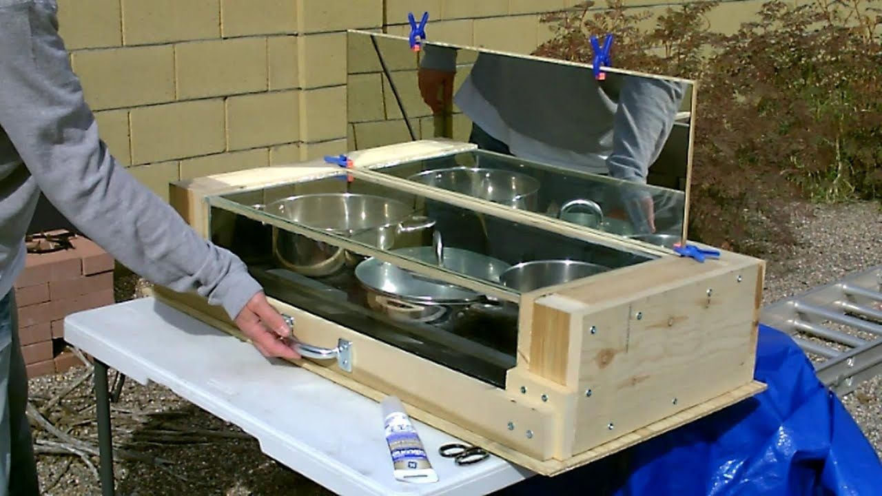 Diy Advanced Solar Oven Fully Insulated No Turn Solar Oven Real Wood Glass And Mirror 350f Youtube Solar Oven Solar Oven Diy Solar Cooker