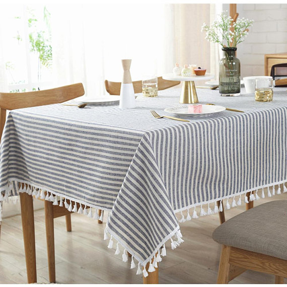 Pinterest & Elegant Stripes Tablecloth Cotton Linen Table Cloth Rectangluar ...