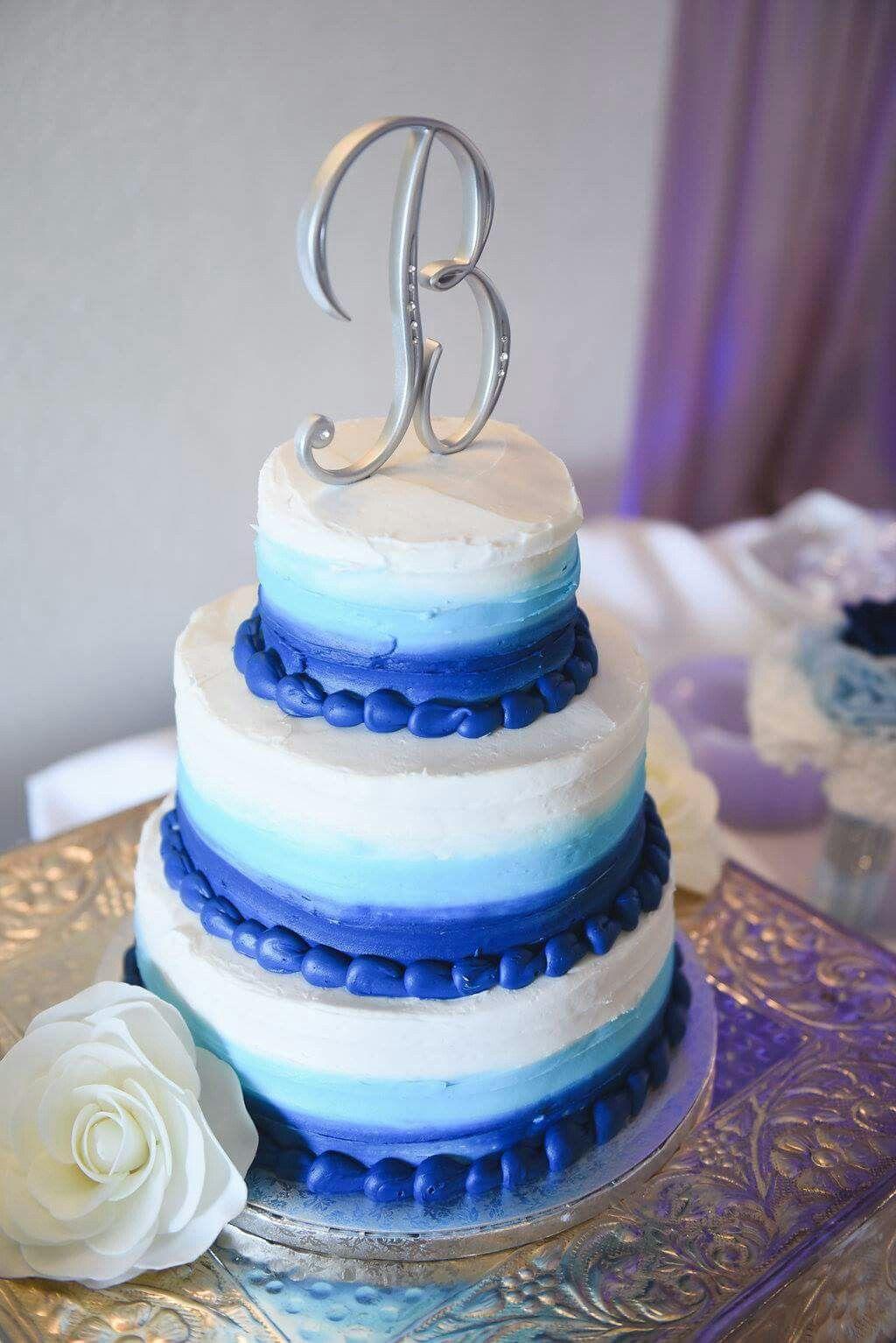 Astonishing Blue Ombre 3 Tier Wedding Cake From Sams Club Bakery Sams Club Personalised Birthday Cards Paralily Jamesorg