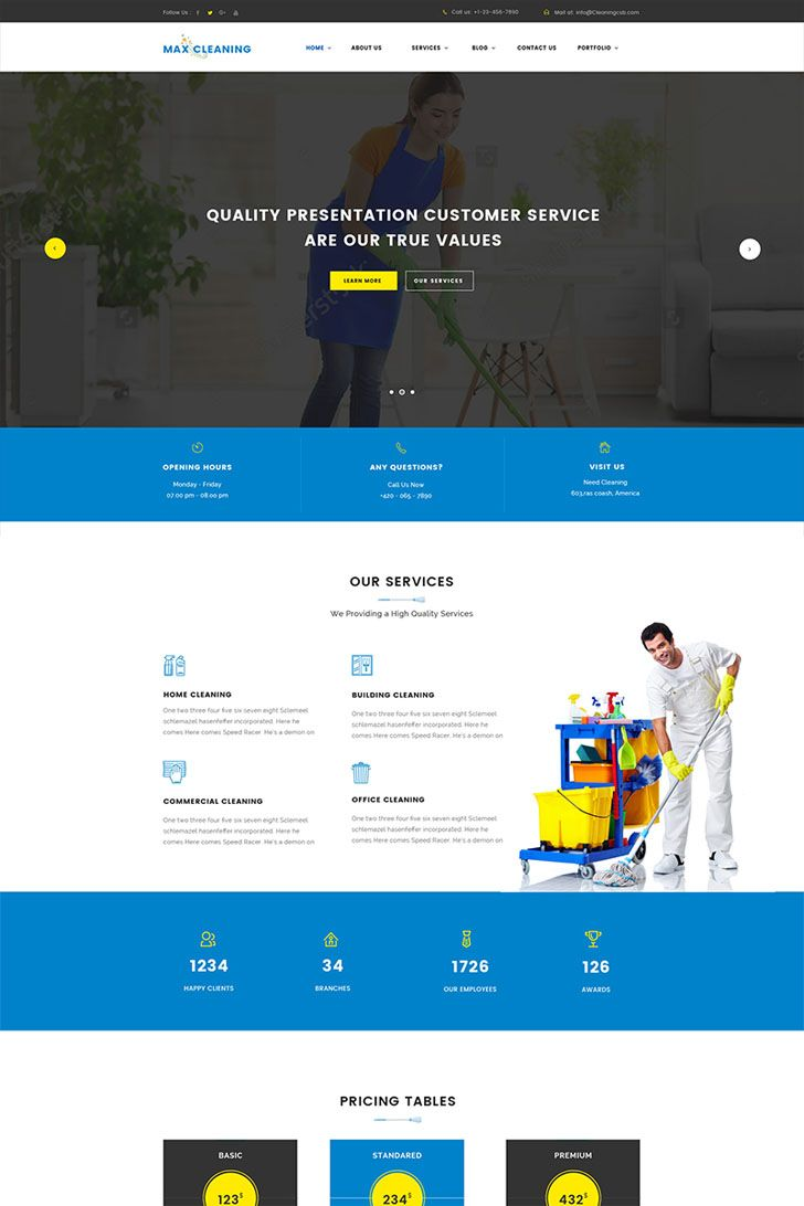 Cleaning #Company #WordPress #Theme Drag and Drop Page Builder ...