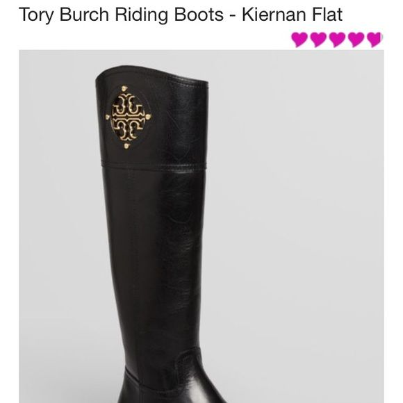 TORY BURCH KIERNAN RIDING BOOTS SZ 7.5 FABULOUS  TORY BURCH KIERNAN RIDING BOOTS SIZE 7.5 BLACK LEATHER VERY GENTLY WORN WHOS TO KNOW THERE NOT BRAND NEW RETAILED $495 Tory Burch Shoes Winter & Rain Boots