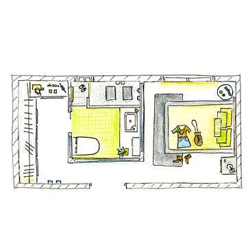Dormitorio Con Bano Y Vestidor En Gris Y Verde Bano Vestidor