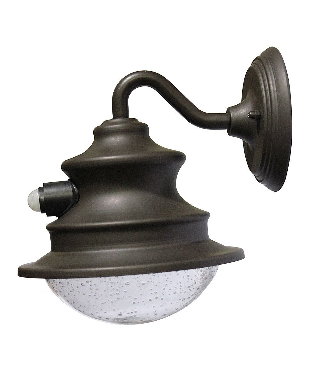 Look what I found on #zulily! Brown Gama Sonic Motion Sensor Solar Barn Light by GAMA SONIC #zulilyfinds