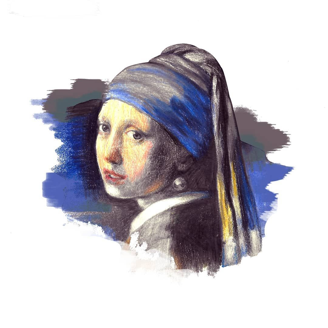 Vermeer - Girl with a Pearl Earring @tattoosaloon #painting ...