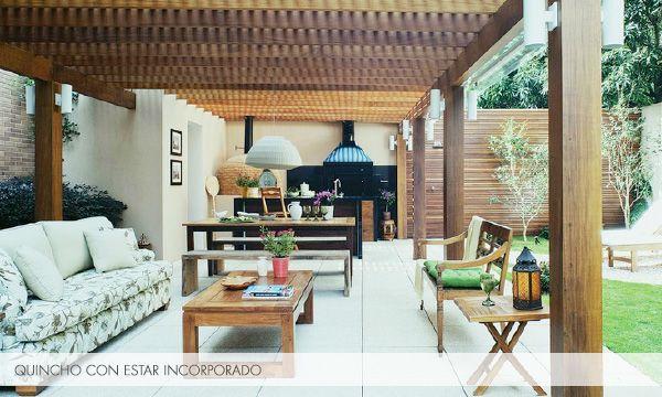 El quincho nuevo living comedor al aire libre deco for Jardin al aire libre de madera deco