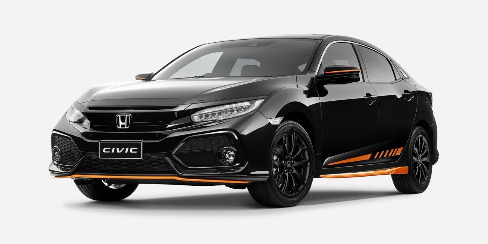 Honda Australia Launches Civic Orange Edition And Black Pack Carscoops Honda Civic Hatch Honda New Honda