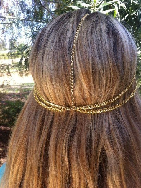 BLOW OUT SALE Gold 5 Strand Head Chain  Headchain by Callefemme, $20.00 LOVE