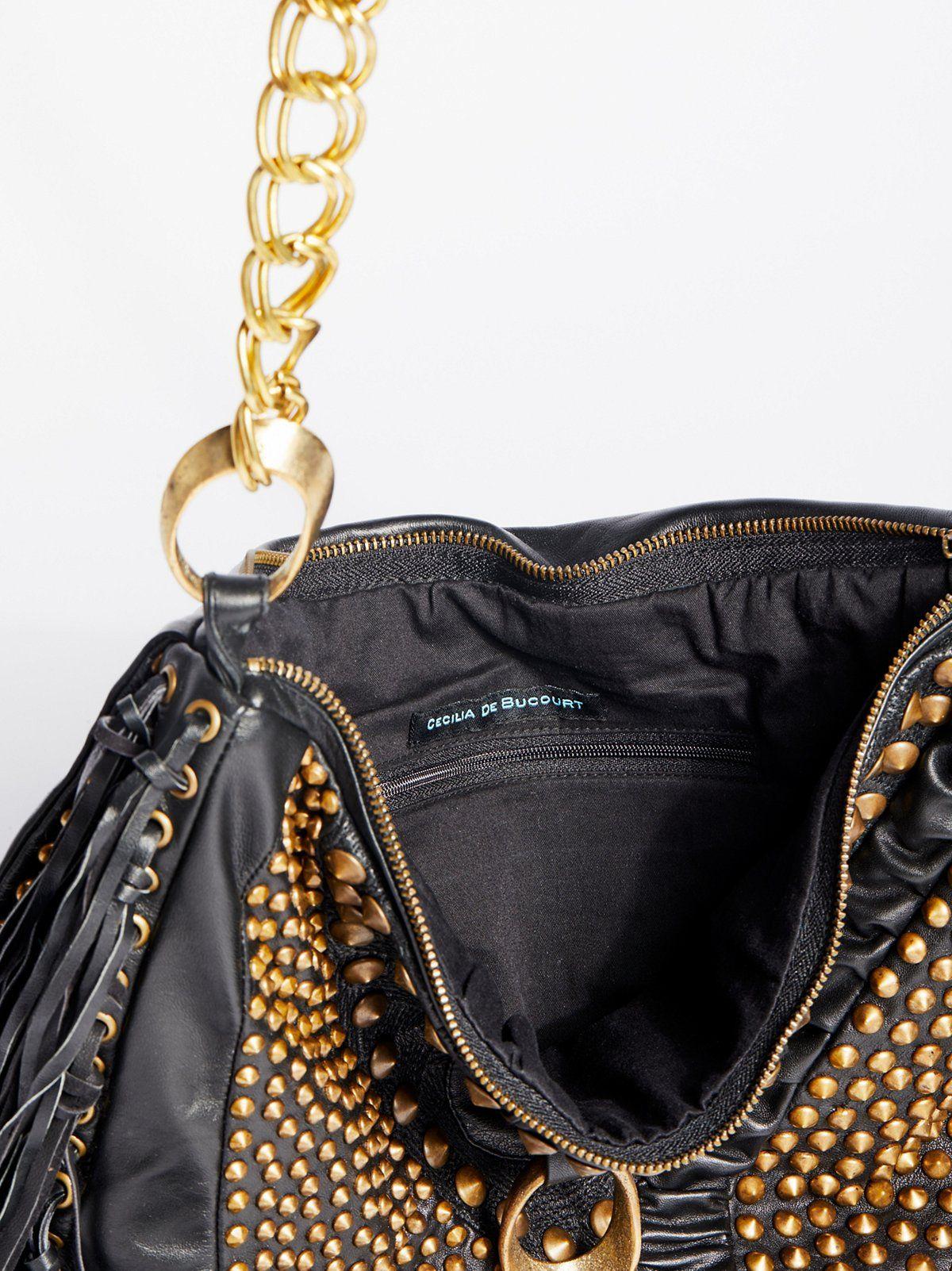 Harrow Stud Hobo Leather hobo bag, Studded leather
