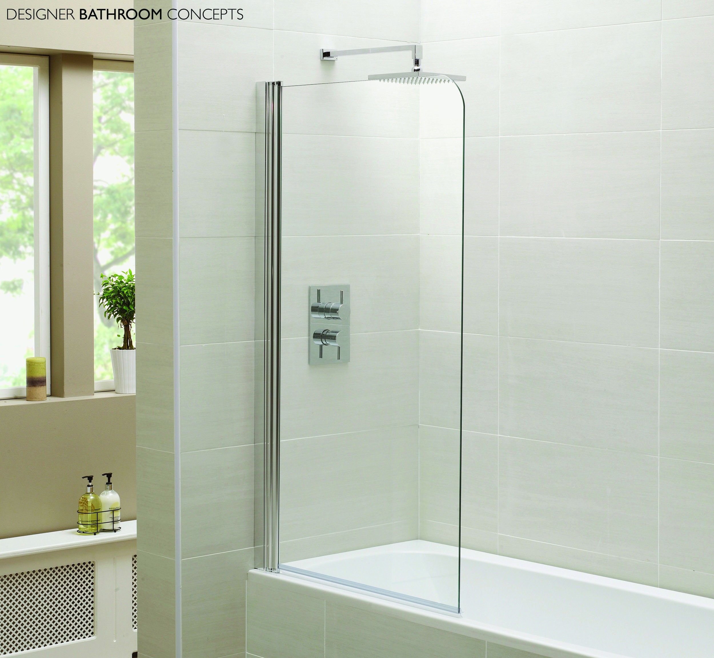 1400Mm Shower Bath designer single glass bath shower screens 1400mm x 800mm | bath