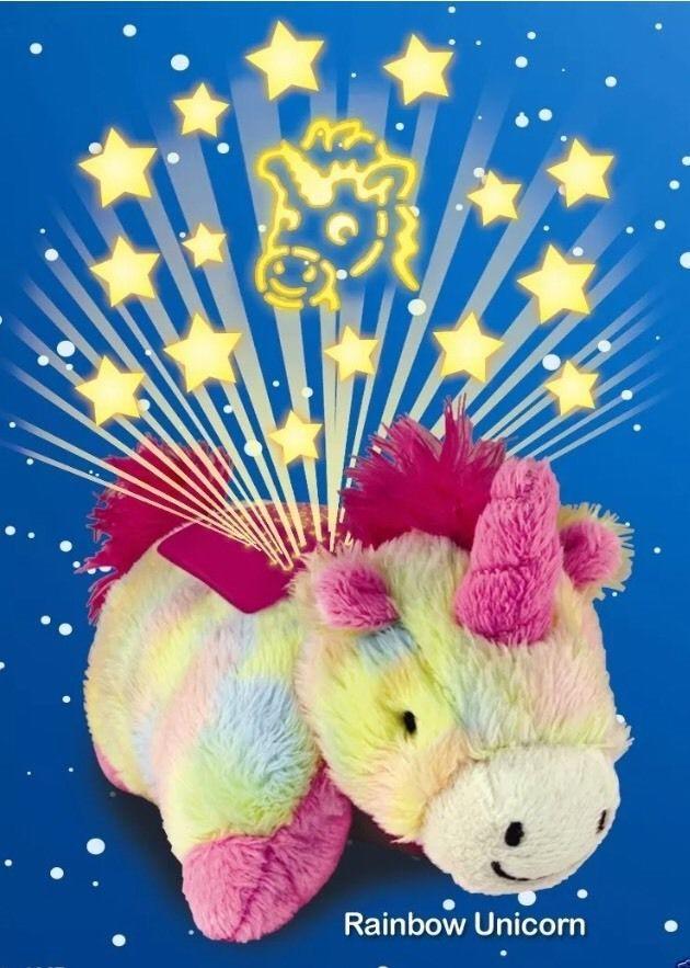 Pillow Pets Dream Lites Mini Rainbow Unicorn Ebay Animal Pillows Rainbow Unicorn Toys