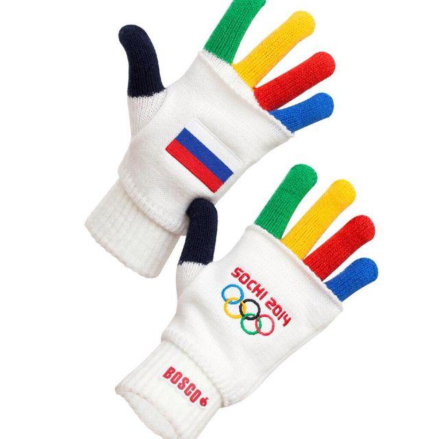 Rainbow Winter Olympic Sochi 2014 gloves...