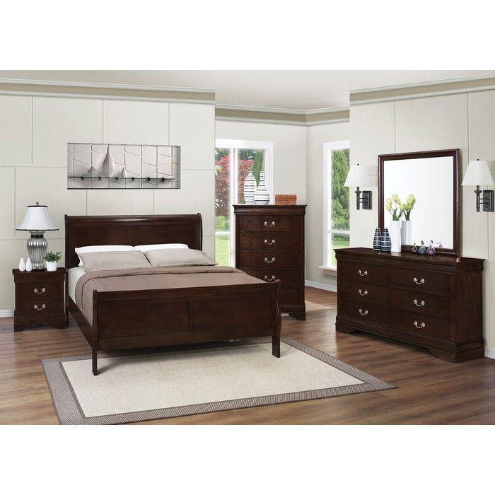 Charlton Home Blundell Panel Customizable Bedroom Set U0026 Reviews | Wayfair