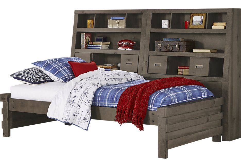 Montana Espresso 6 Pc Full Bookcase Daybed - Full Beds Dark Wood