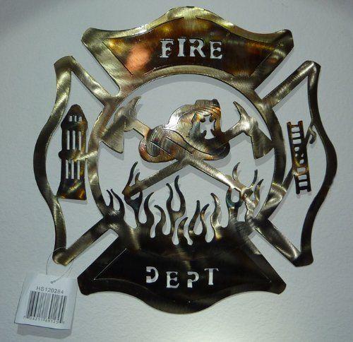 Pin By Tamara Baucham On Home Decor Sculptures Firefighter Room Firefighter Decor Fire Dept