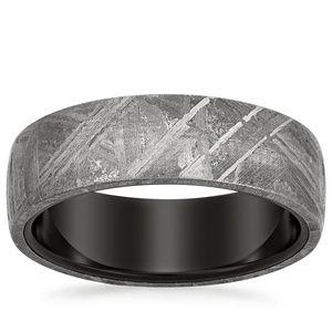 Meteorite Magnus Wedding Ring Black Tungsten Wedding Ring Mens Meteorite Ring Mens Wedding Bands Tungsten