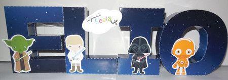 Letras 3D Star Wars